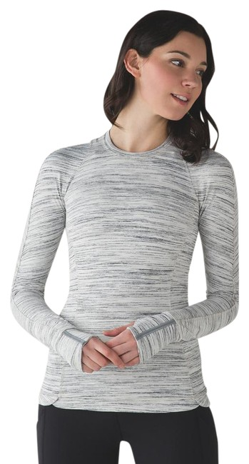 Item - Space Dye Camo White Silver Spoon Runderful Pullover Activewear Top Size 8 (M, 29, 30)
