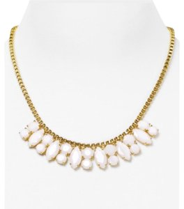 Kate Spade Marquee Goldtone White Metallic Jeweled Chain Necklace