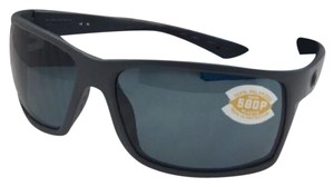 3841ab594b Costa Del Mar Polarized COSTA Sunglasses REEFTON RFT 98 Matte Grey Frame w   580 Grey