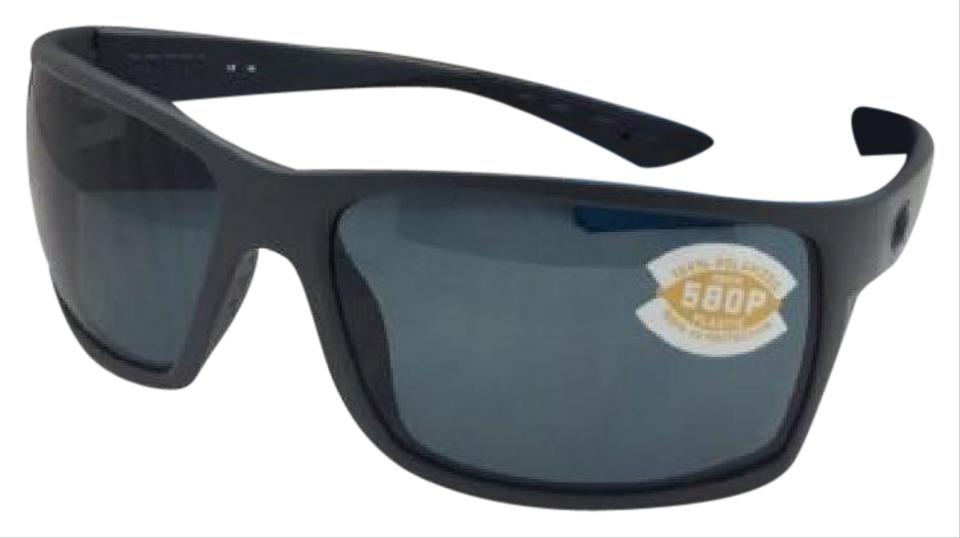 a41d0468c7 Costa Del Mar Polarized COSTA Sunglasses REEFTON RFT 98 Matte Grey Frame w   580 Grey ...