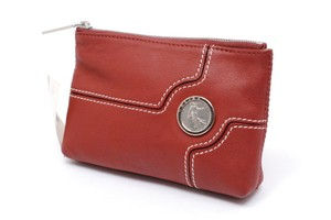 Céline Wallet Pouch New France Red Clutch