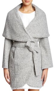 T Tahari Oversized Wool Tweed Coat