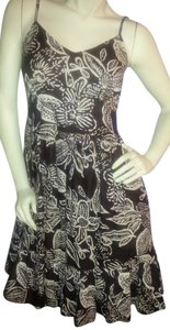 Jane Ashley short dress Brown & khaki floral on Tradesy