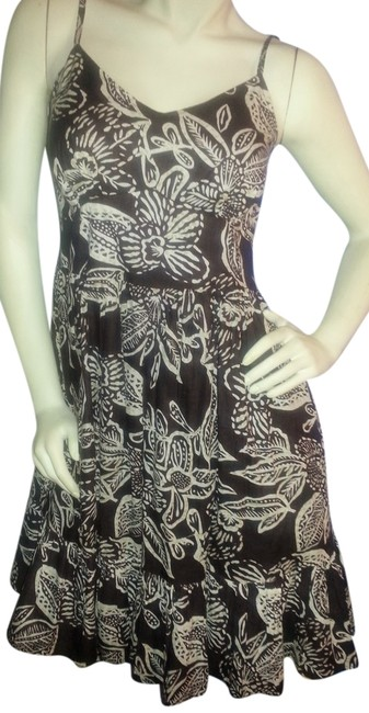 Preload https://item3.tradesy.com/images/jane-ashley-brown-and-khaki-floral-lifestyle-mid-length-short-casual-dress-size-6-s-2068082-0-0.jpg?width=400&height=650