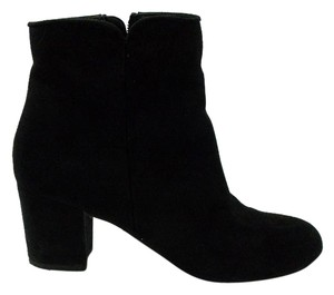 ASOS Ankle Suede Chunky Heels Black Boots