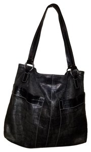 Fossil Croc Style J Crew Marc Jacobs Tote in BLACK