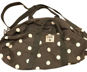 Victoria's Secret Grey with white polka dots Travel Bag