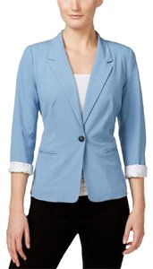 Kensie Light Blue Jacket One Button Chambray heather Blazer