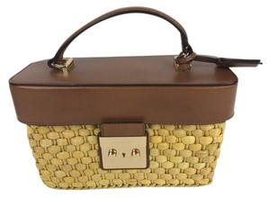 Michael Kors Satchel in Brown and Straw