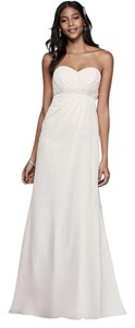 David's Bridal A-line Wedding Dress With Beaded Empire Waist Wedding Dress