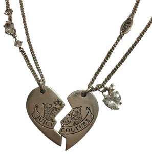 Juicy Couture Juicy Couture Sterling Silver-Friendship Heart Necklaces