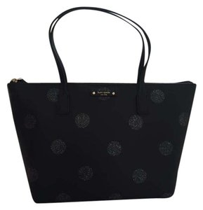 Kate Spade Glitter Hani Haven Lane Tote in Black