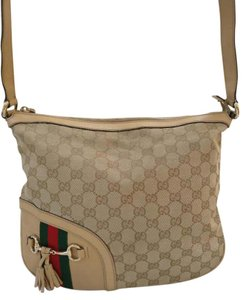 Gucci Gg Web Tassel Cross Body Bag
