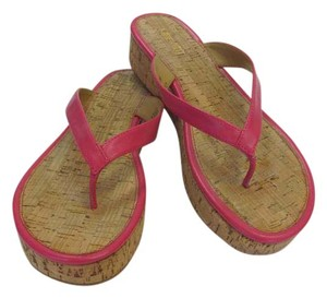 Nine West New Size 10.00 Excellent Condition Pink Sandals
