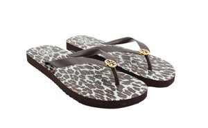 Tory Burch Brown-Leopard Sandals