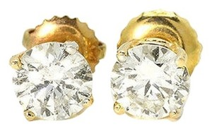 Jared Diamond Earrings 1.5 ct tw Round-cut 14K Yellow Gold