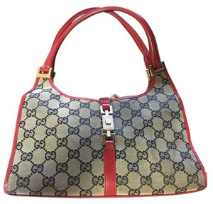 Gucci Satchel in red/black/gray