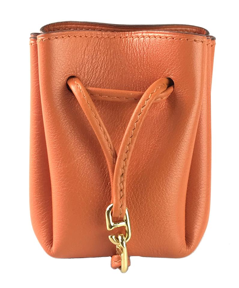 0df4f3eff142 Herm?s Gulliver Charm Pouch Orange Leather Wristlet - Tradesy