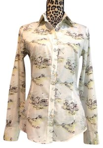 Brooks Brothers Golf Business Casual Lightweight Vintage-inspired Button Down Shirt Golf Print