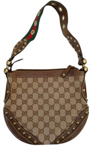 Gucci Pelham Gg Monogram Leather Shoulder Bag