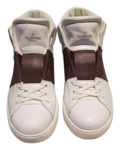 Valentino white and wine red Athletic