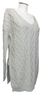 CATINA Cable V-neck Tunic Sweater