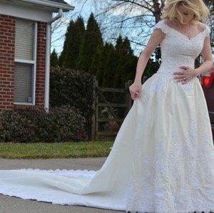 Moonlight Bridal Vintage Ivory Wedding Dress Wedding Dress
