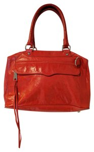 Rebecca Minkoff Mab Leather Mab Satchel in Red