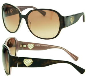 Coach S2027-218 Tortoise New-With-Tags Coach Sunglasses, Gold Heart