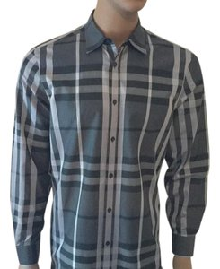 Burberry London Button Down Shirt Grey