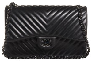 Chanel Jumbo Chevron Lambskin Shoulder Bag