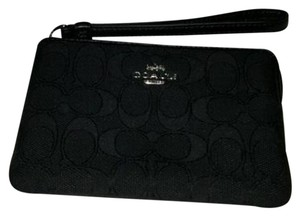 Coach Wristlet in Black/Black
