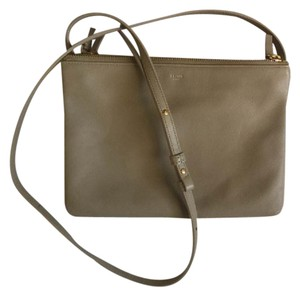 Céline Large Trio Tan Lambskin Shoulder Bag