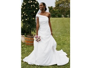 David's Bridal David's Bridal Wg3025/modern One-shoulder Pick-up Gown Wedding Dress Wedding Dress