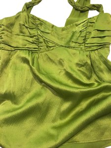 Nanette Lepore Size 2 Sleeveless 100% Silk Top Chartreuse Green