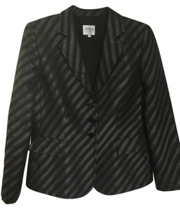 Armani Collezioni Striped Armani Italy Black Jacket