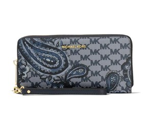 Michael Kors Michael Kors Studio Paisley Jet Set Travel Continental Wallet Navy