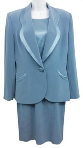 Oleg Cassini Blue Suit Dress