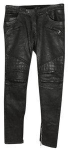 Balmain x H&M Biker Denim Mens Biker Pants Saint Laurent Denim Skinny Jeans-Coated