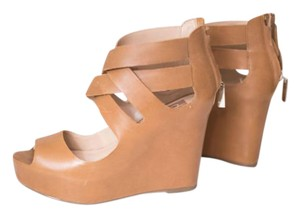 Dolce Vita Leather Dv Espadrille Cognac Wedges