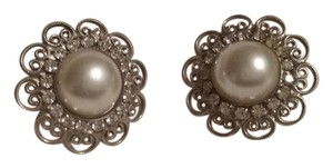 Other Round Silver and Pearl Earrings