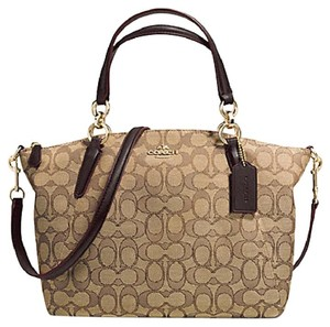 Coach Fabric Crossbody New With Tags Satchel in Khaki / Brown