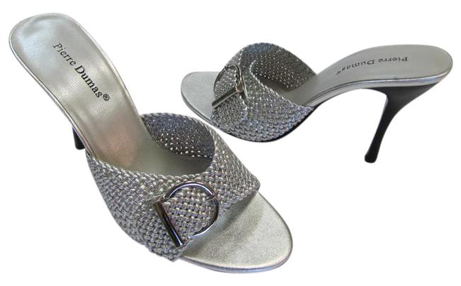 Item - Silver M Adjustable Buckle Very Good Condition Sandals Size US 9 Regular (M, B)