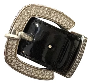 Brighton Brighton Dazzle Black Patent Leather & Crystal belt buckle bracelet-NWT