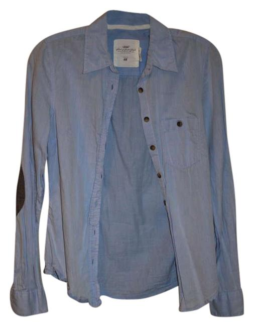 Preload https://img-static.tradesy.com/item/206824/h-and-m-light-blue-tweed-button-down-top-size-4-s-0-0-650-650.jpg