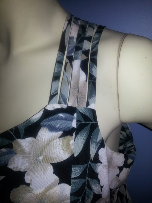 Greens, ivory floral on black Maxi Dress by Betsy's Things