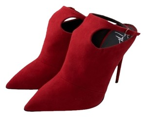 Giuseppe Zanotti Booties Suede Penny Lane Red Mules