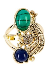 House of Harlow 1960 New!! Blue Green Crystal Ring