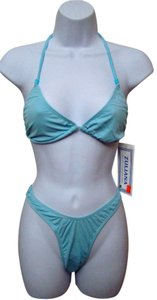 Other Zuliana - Light Blue Thong Tie String Bikini - Size S