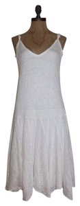 Anthropologie short dress WHITE Romantic Peasant Summer Lace on Tradesy